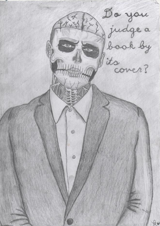 Drawing - Rick genest1